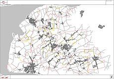 Kartenausschnitts des Landkreises zum Breitbandausbau
