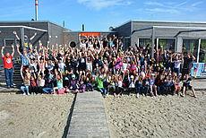 Gruppenfoto der Teilnehmer der Zeltfreizeit