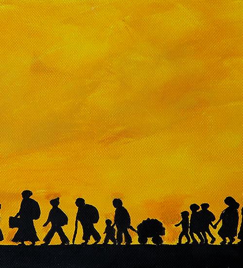 """""""Flüchtlingstrom"""" - Angelika Harken"""