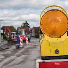 Bild einer Straßensperre