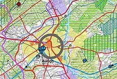 Kartenausschnitt des RROP
