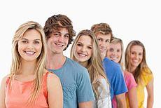 Beispielhaftes Bild von Jugendlichen