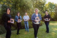 Auf dem Foto sehen Sie die Mitarbeiter*innen des SPN (v. l. n. r.): Anja Heyken, Barbara Weber-Zemke, Mike Emmer, Heike Agena, Marlies Reinsberg