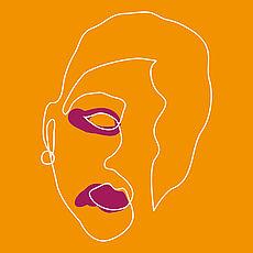Stilisierte Grafik von verletzter Person