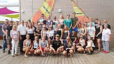 Gruppenfoto von der Zeltfreizeit Norderney