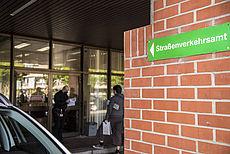 Eingang der Zulassungsstelle Aurich