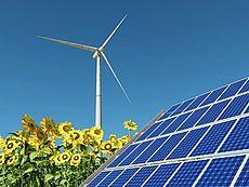 Bild einer Windenergieanlage