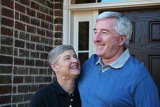 Symbolhaftes Bild eines älteren Paares