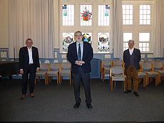 Personen bei der Verabschiedung - Olaf Meinen, Dieter Schröder und Rüdiger Musolf