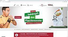 Startseite des neuen Online-Auftritts der Abfallwirtschaft