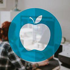 Grafik eines Apfels