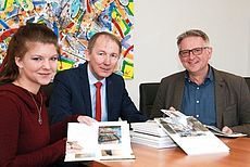 Lisa Ulferts, Harm-Uwe Weber und Rainer Müller-Gummels