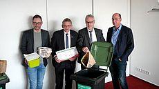 Yves Knoblich, Olaf Meinen, Hans-Hermann Dörnath und Dr. Udo Fecht