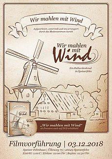 """Plakat """"Wir mahlen mit Wind"""""""