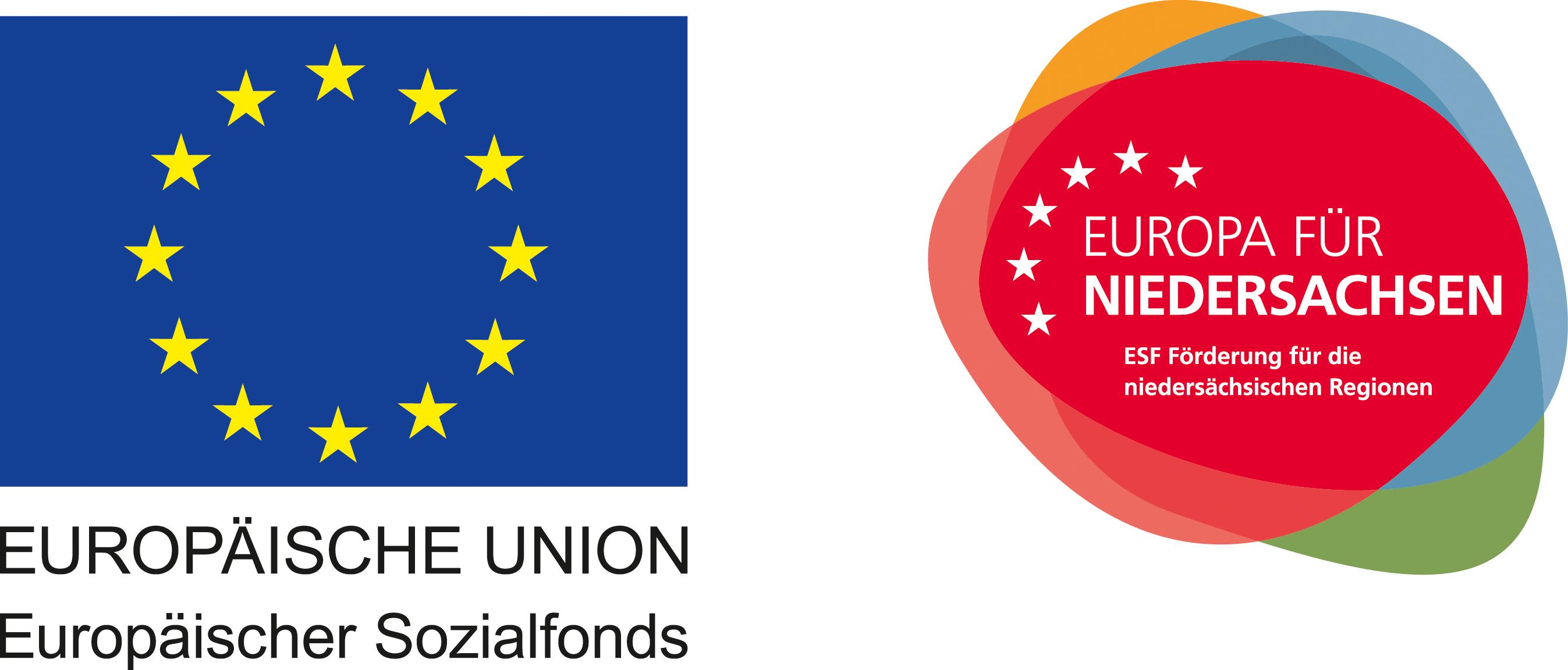 Label der EU und der ESF